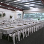 Youth Hall, Conference Meal Setup