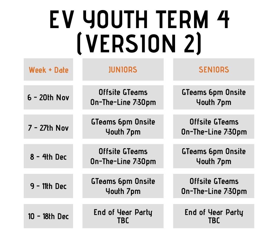 term 4 schedule